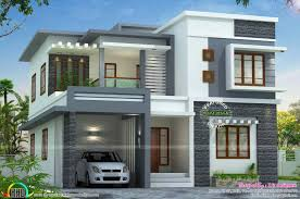 Kerala Home Design And Elevations by Floor Style House Flat Roof Designs Plan And Elevation Kerala Home
