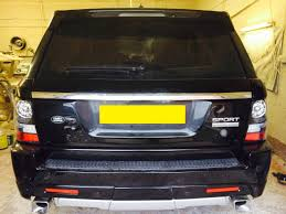 land rover chrome range rover sport rear tailgate conversion to 2012 meduza design ltd