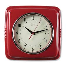 a kitchen update with red retro clock or other country clocks