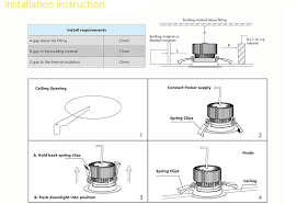 how to do a professional led recessed downlight installation