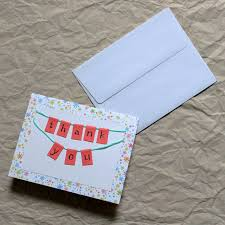 How To Make A Card Envelope - how to make a little bunting thank you card loulou downtown