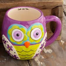 owl mug owl mugs with inspirational messages ebay