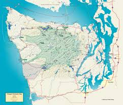 Seattle On Map by Medium Size Map Of Olympic Peninsula