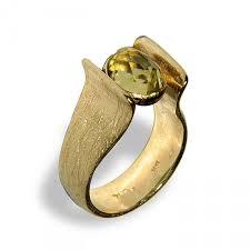 wedding ring alternative harp gold ring lemon quartz wedding ring engagement rings