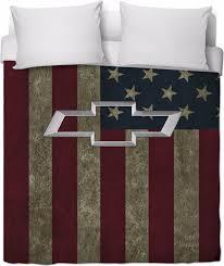 American Flag Duvet Chevy American Flag Duvet Cover