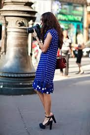 women u0027s blue polka dot swing dress black suede heeled sandals
