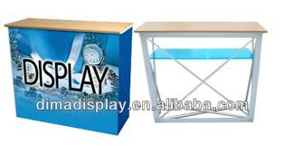 Pop Up Reception Desk Promotion Counter Table Kiosk Trade Show Display Supermarket Demo