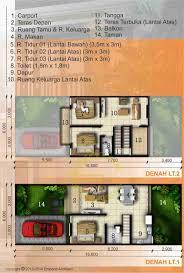 desain rumah lebar 6 meter jasa desain rumah denah 2 lantai 3 kamar lebar 6 jpg 837 1241