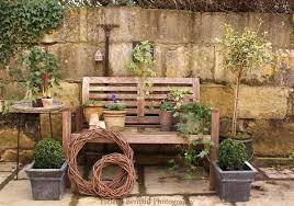recycling chairs and benches for blooming garden decorations