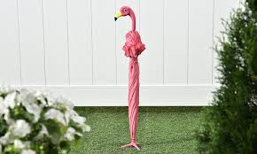 amazon com giftcraft pink flamingo full size standing parasol