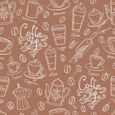 coffee shop background design coffee shop design seamless background stylized coffee pattern