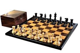 buy 1849 cooke antique ochre board and walnut box chess set at
