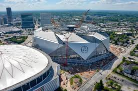Metlife Stadium Floor Plan by Mammoth Mercedes Benz Stadium Set For August Opening