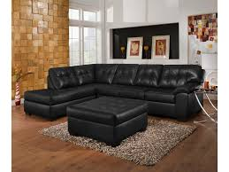 Tufted Sofa With Chaise by Simmons Upholstery 9568 Casual Sectional Sofa With Tufted Seat