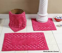 pinky bathroom rug sets 5 piece for sweet look 3 piece bath rug