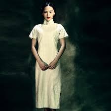 traditional linen chinese dress cap sleeve u0026 linen 1 custom