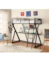 black metal twin loft bed with desk bargains on coaster contemporary metal loft bunk bed with desk