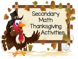 thanksgiving activities for secondary middle and high school