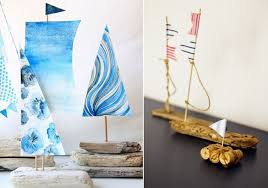 beach home decorating ideas sailing boats corks