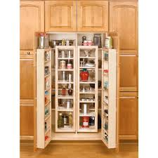 Kitchen Storage Cabinets Pantry Rev A Shelf 57 In H X 12 In W X 7 5 In D Wood Swing Out Cabinet