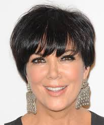 what is kris jenner hair color kris jenner short straight formal hairstyle with layered bangs