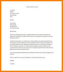 7 thank you letter for job interview sample joblettered