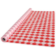 paper table cover with plastic liner shop all table covers and tablecloths hoffmaster