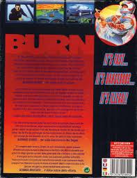si e auto dos route burning rubber 1993 amiga box cover mobygames