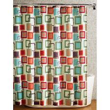 Bird Print Curtain Fabric Hometrends Squares Fabric Printed Shower Curtain Multicolored