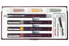 planche à dessin règle et stylo rotring matériel pour le dessin