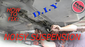 how to fix repair suspension squeaks noise groans sway bar rubbers