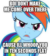 Rainbow Dash Meme - angry rainbow dash memes imgflip