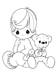 precious moments baby teddy bear coloring pages inkleur