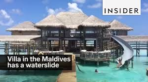 this villa in the maldives has a waterslide youtube