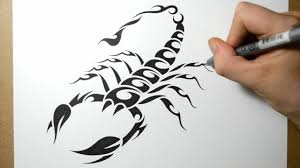 tatoo design tribal how to draw a scorpion tribal tattoo design style youtube