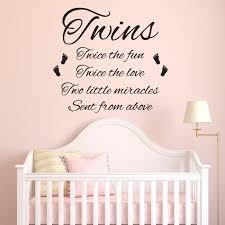 citation chambre stickers citation pour la chambre jumeaux chambre bébé