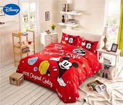 chambre mickey mouse dessin animé de disney impression ensemble de literie 100 coton