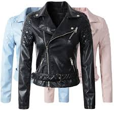 ladies motorcycle leathers online get cheap ladies blue leather jacket aliexpress com