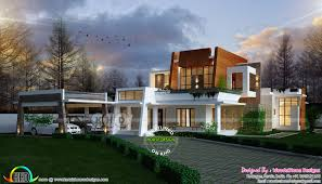 contemporary homes designs 4 bedroom contemporary home by woodestone designs from kottayam