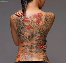 old asian dragon tattoo design made on women back golfian com