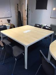 Ikea Bekant Conference Table Ikea Bekant Conference Table In Birch Veneer And White Finish