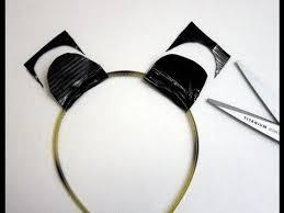 Halloween Costume Ears Duct Tape Tutorial Animal Ears Headband Panda Halloween Costume