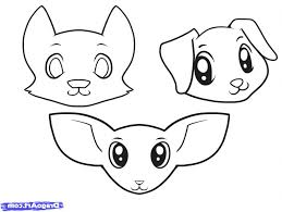 easy drawing of a dog how to draw dogs for kids step step animals
