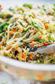vietnamese chicken salad with rice noodles recipe pinch of yum