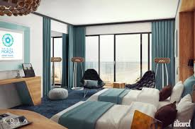visualization of a hotel room freelancers 3d