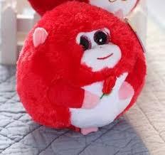 2017 ty big eye plush toys soft red monkey 11cm stuffed