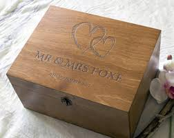engraved memory box custom keepsake box etsy