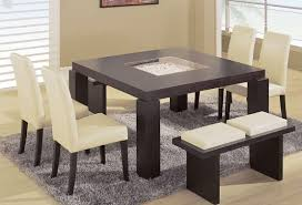 dining room sets with bench amazing contemporary dining table with bench home interiors within
