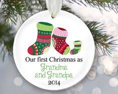 Grandparent Christmas Ornaments First Time Grandparents Will Love This Ornament The Bottom Says