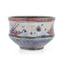 Sailboat Home Decor Ceramic Decorative Sailboat Sailing Design Round Bowl Or Pot